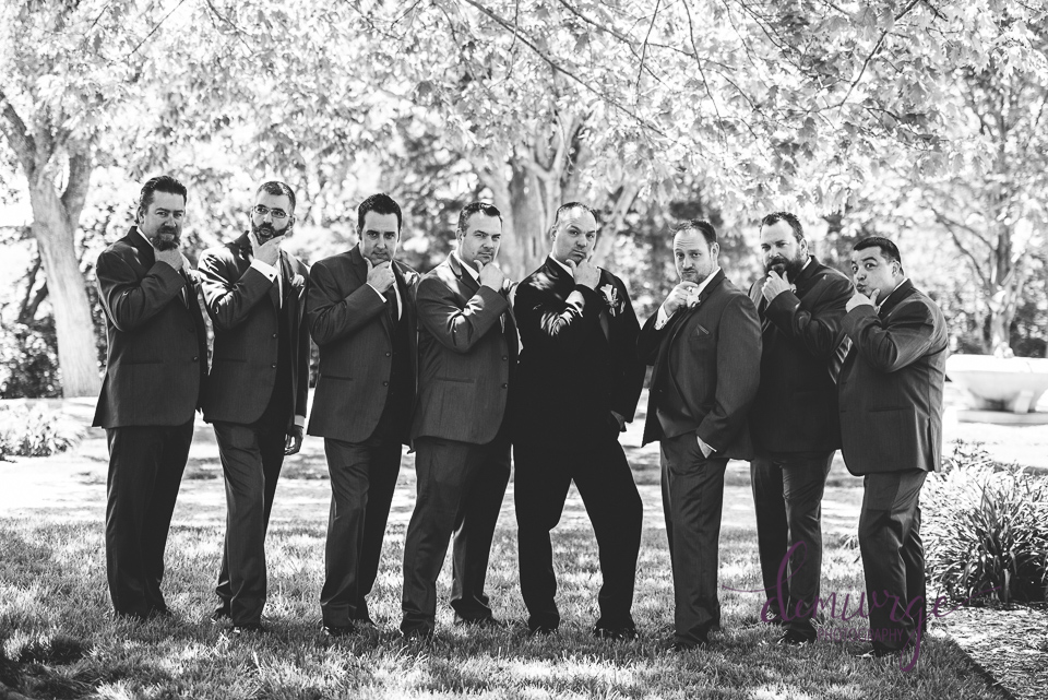 blue steel groomsmen photo
