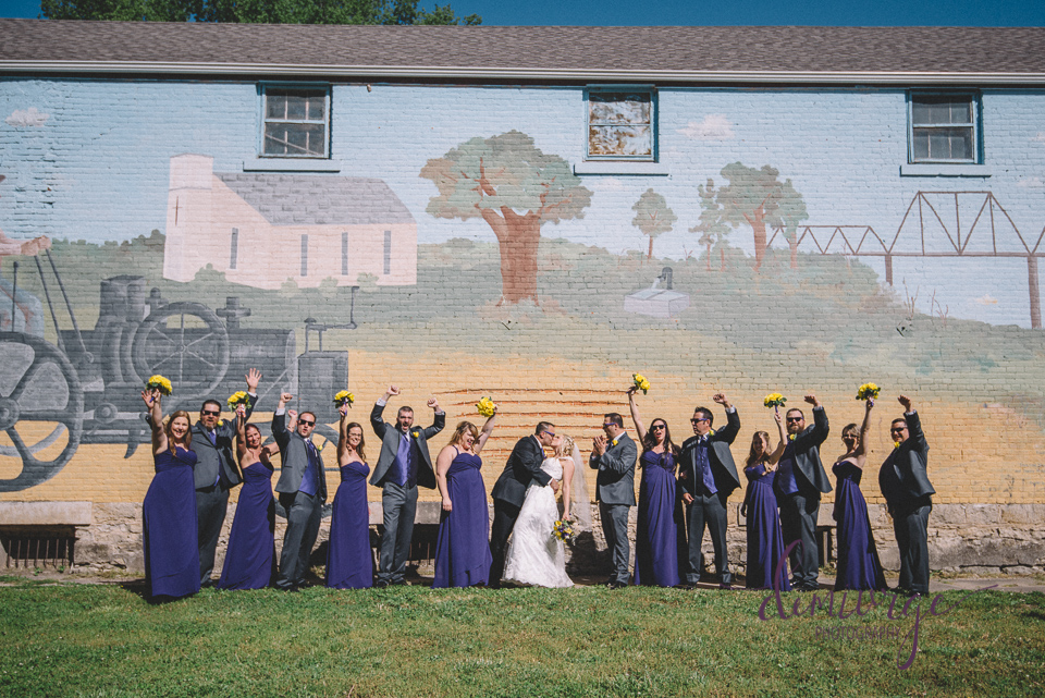 st. george mural wedding party photo