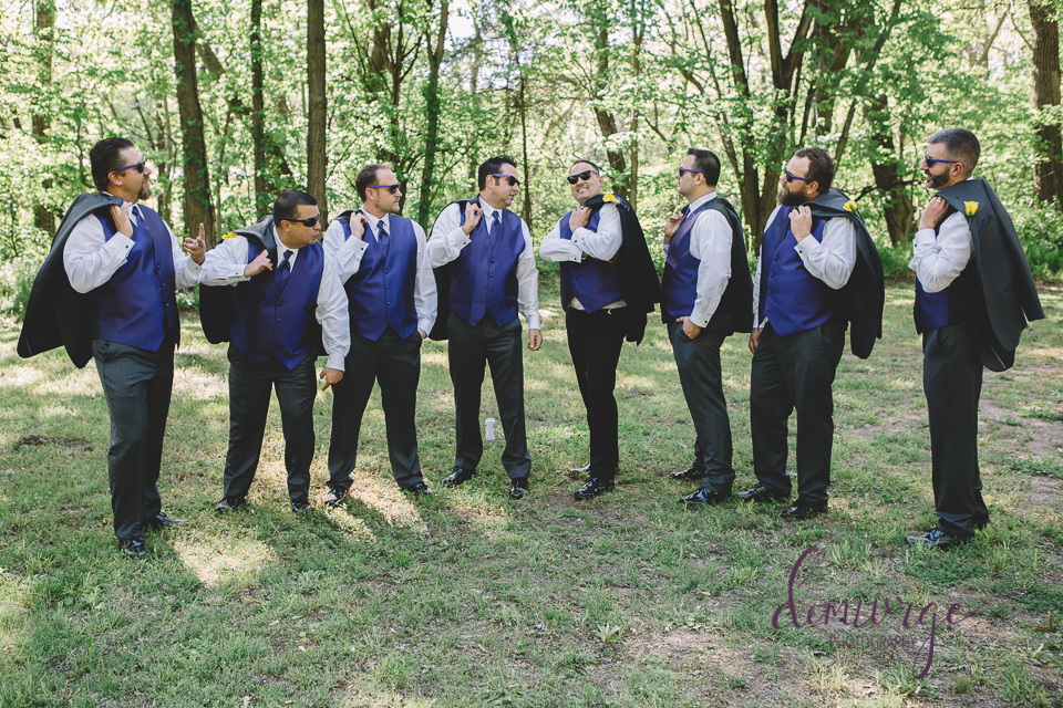 fun groom and groomsmen photo