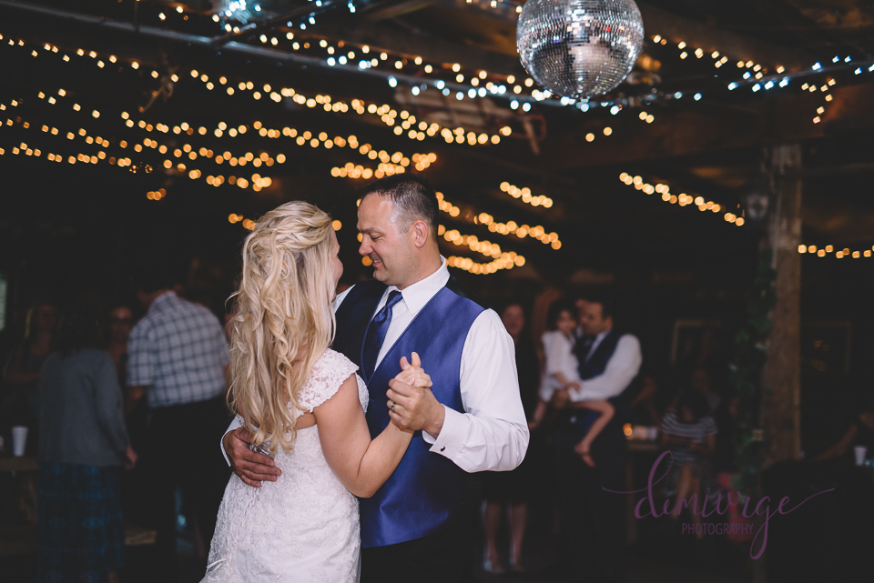 bride and groom first dance at black jack hills