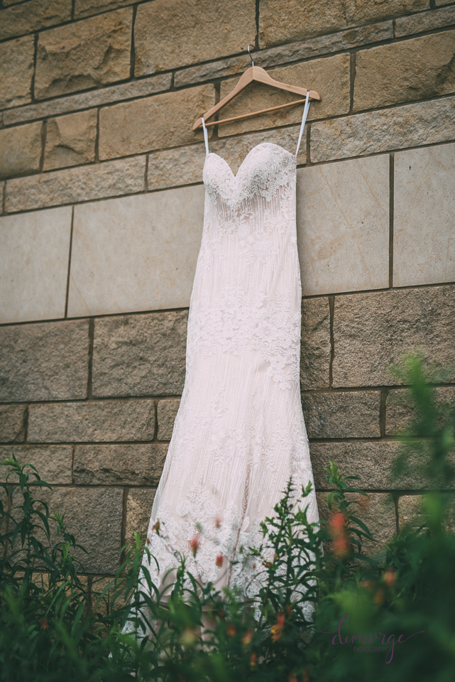wedding dress at flint hills discovery center