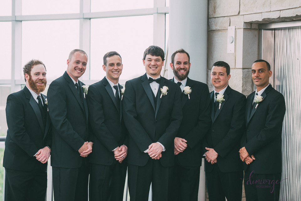 groom with groomsmen flint hills discovery center