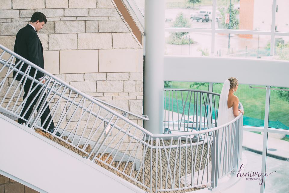 flint hills discovery center wedding day first look