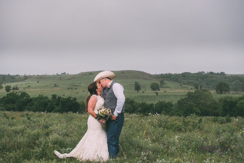 ranch wedding portrait