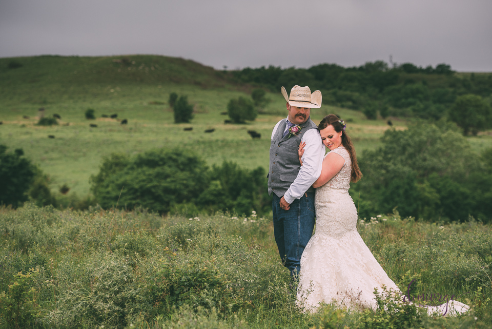 ranch bride and groom photo