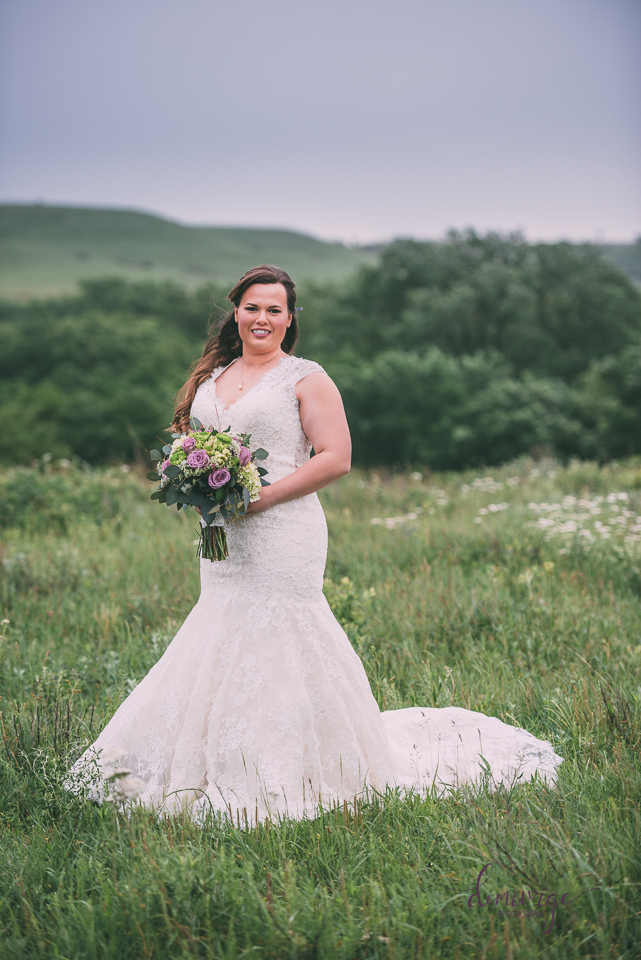 ranch bridal portrait