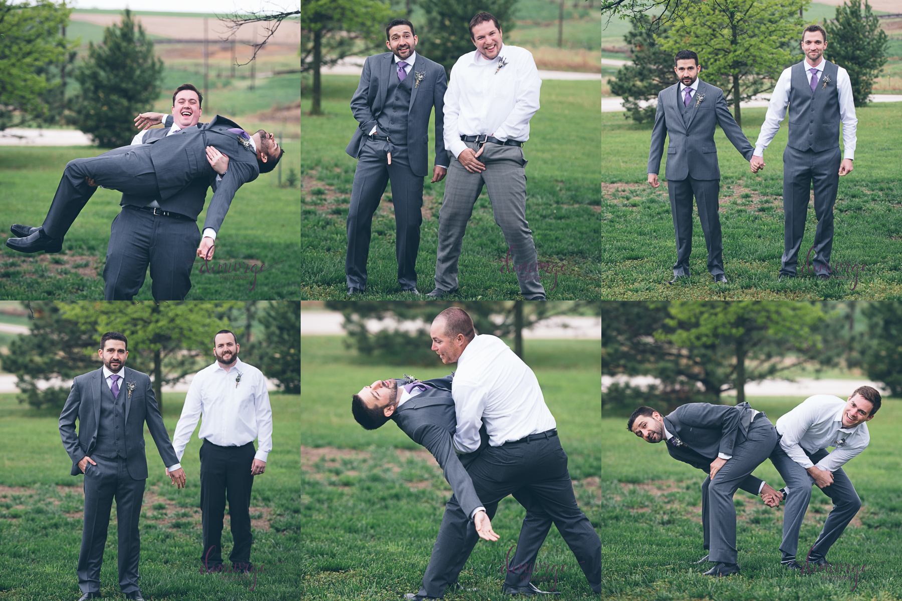 hilarious groomsmen collage