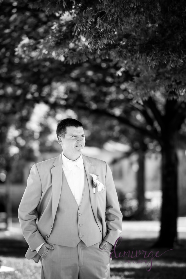groom portrait catholic seneca ks wedding