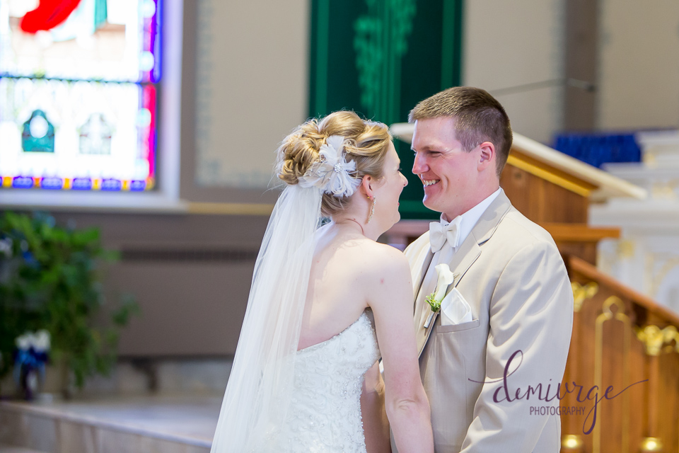saints peter and paul first look wedding day
