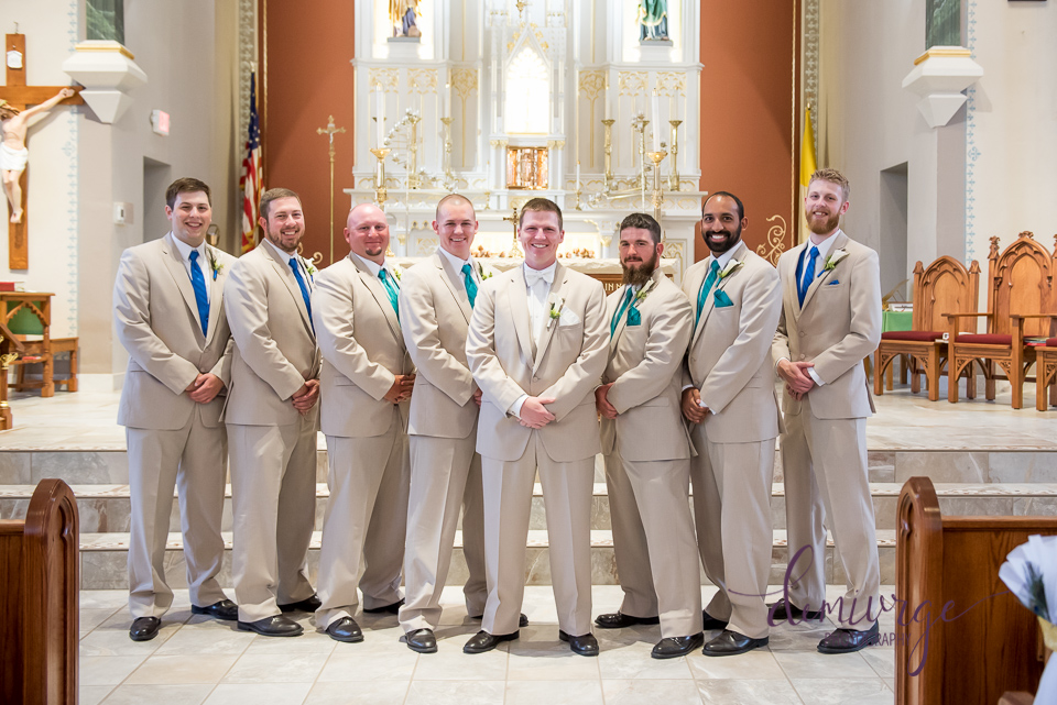groomsmen at saints peter and paul catholic church