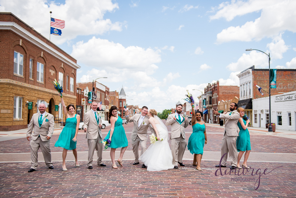 seneca main street wedding party photo