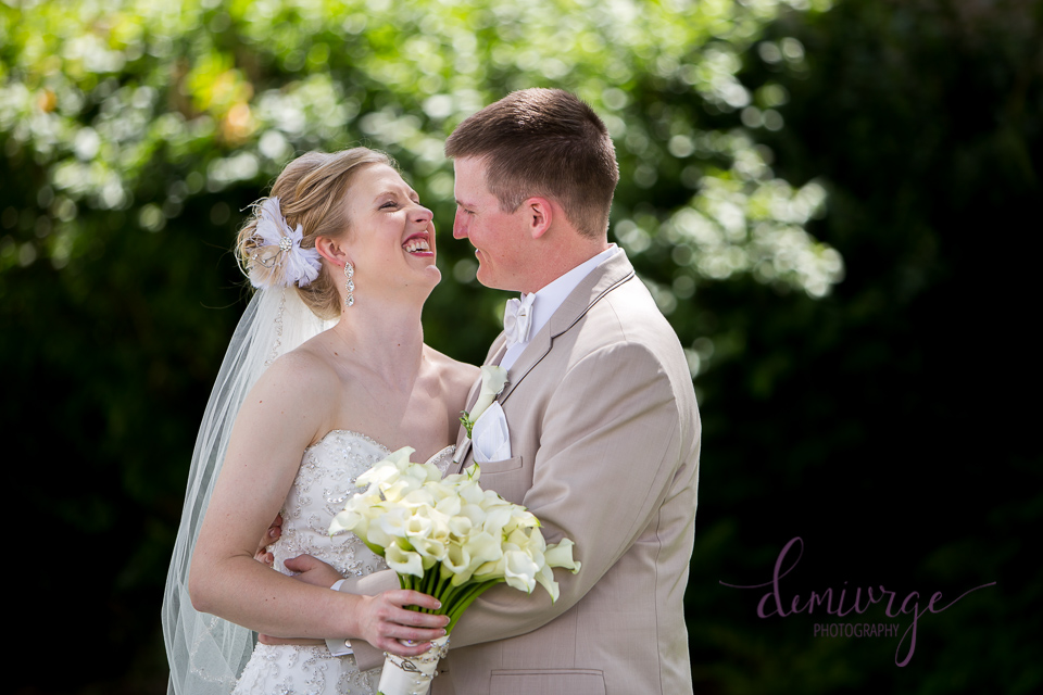 candid bride and groom portrait