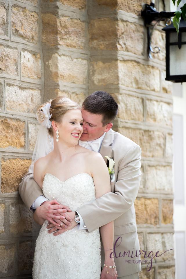 bride and groom wedding portrait seneca ks
