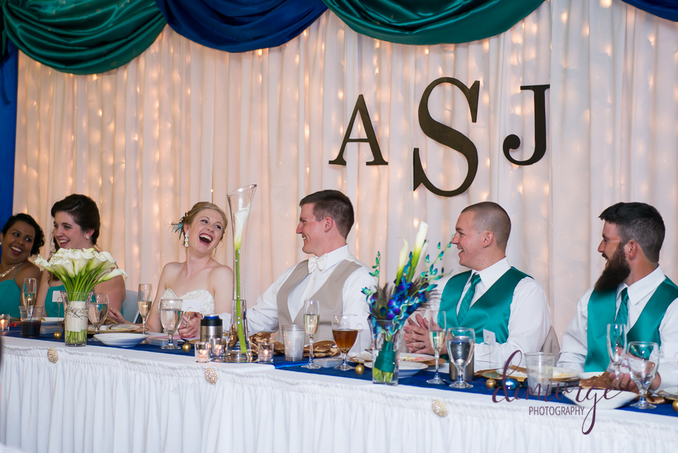 wedding head table bern community center