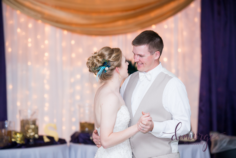 bern community center bride and groom first dance