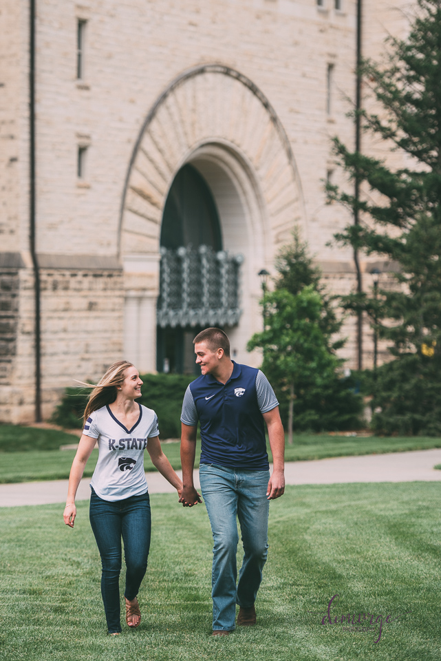 Manhattan KS engagement session at KSU