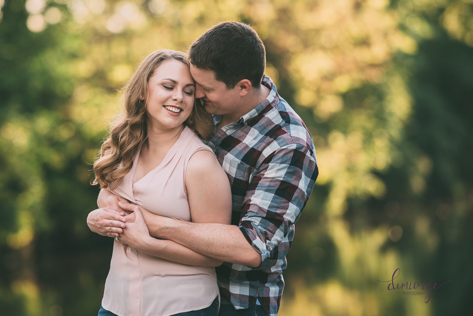 kansas city engagement photographer watts mill waterfall