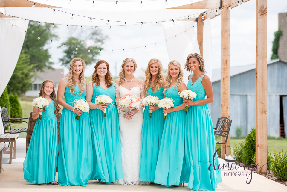 cute outdoor bridesmaids photo