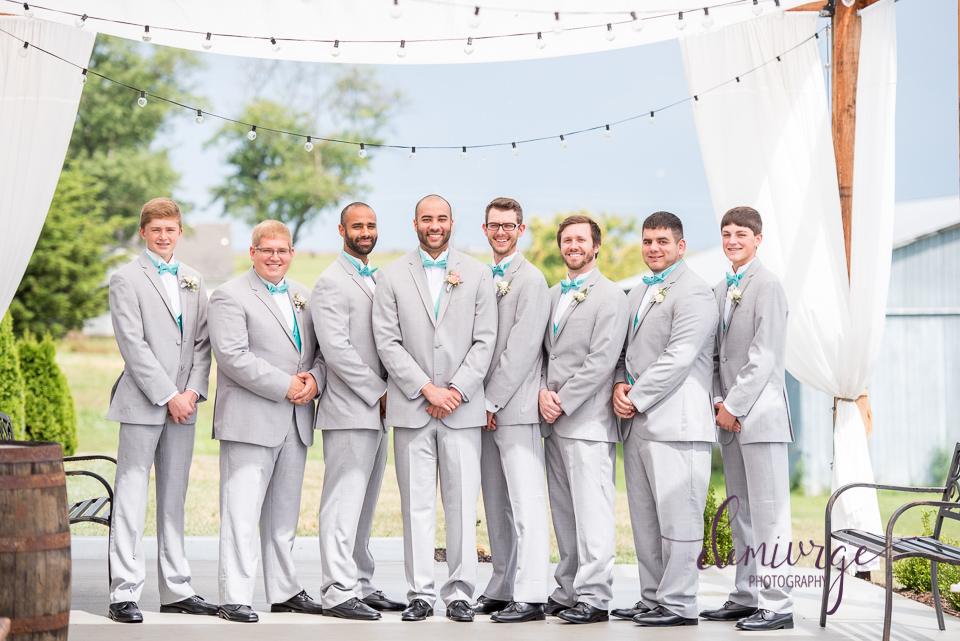 chrisman manor outdoor groomsmen photo