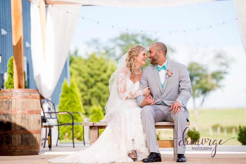 sweet bride and groom portrait oskaloosa wedding