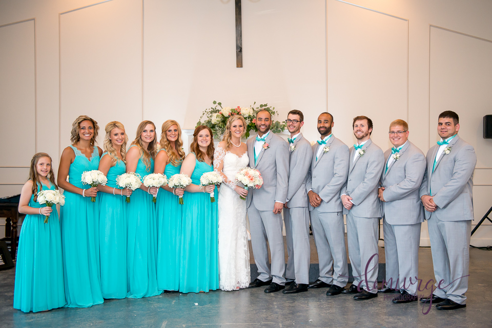 chrisman manor formal wedding party photo