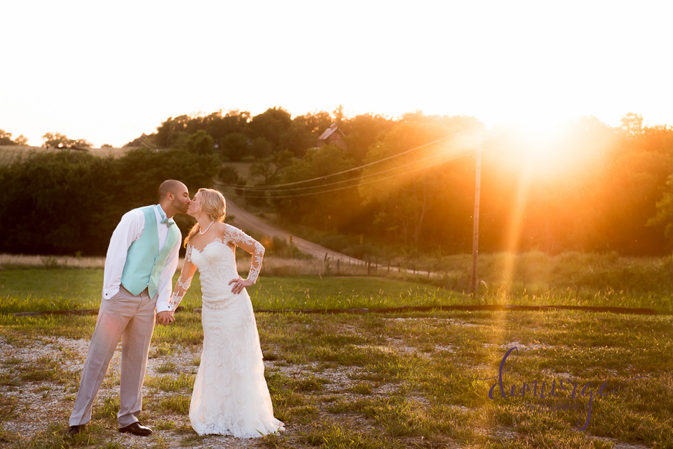 must have bride and groom portrait at sunset