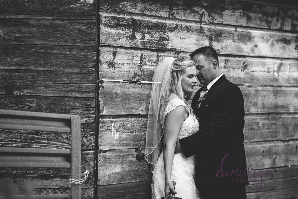 stunning black and white bride and groom photo